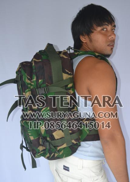 tas ransel laptob army loreng